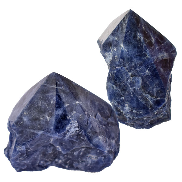 Cut Base Top Polish Point - Sodalite