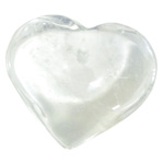 Puffy Heart - Extra Large - Clear Quartz