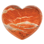 Puffy Heart Stones - Rainbow Jasper (6)