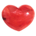 Puffy Heart Stones - Strawberry Obsidian (6)