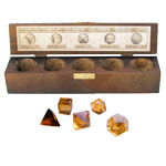 Platonic Solids 5 Piece Set (Sacred Geometry) - Citrine