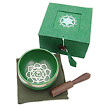 Singing Bowl Gift Set - Green (3 inch)