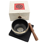 Singing Bowl Gift Set - White (3 inch)