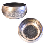 Singing Bowl - Machine Etched w/ 3D Mandala