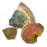 Rainbow Pyrite on Matrix Specimen
