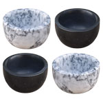 Marble Spice / Pinch Bowl Set - Grey and Black (4/set)