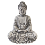 Resin Statue - Meditation Buddha - Cement Texture