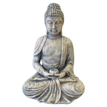 Resin Statue - Meditation Buddha - Wood Texture