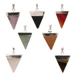 Gemstone Triangle Pendant - Assorted (7) - SALE 15% OFF