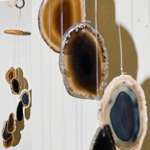 Agate Wind Chimes - (Small) Black