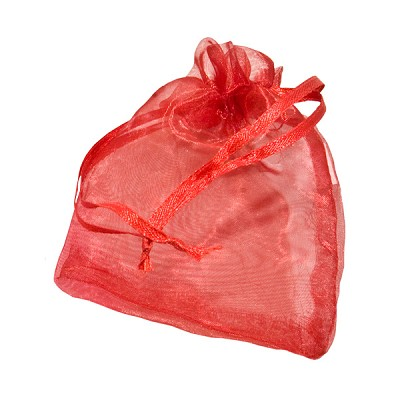 Organza Pouches - Ruby Red - 3 x 4 inch (10)