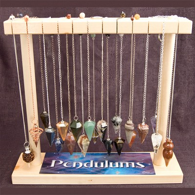 Pendulum Display (Small) - Faceted Gemstone and Metal (27/display)