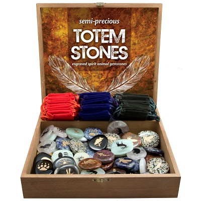Totem Stones Display - Assorted w/ Gembags (72/display)