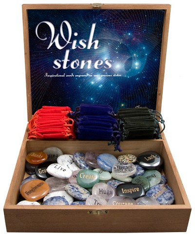 Wish Stone w/ Gembags Display (60/display)