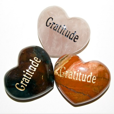 Puffy Heart Gems (Engraved) - Gratitude (6)