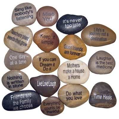 Inspiration River Stones - Assorted (40)