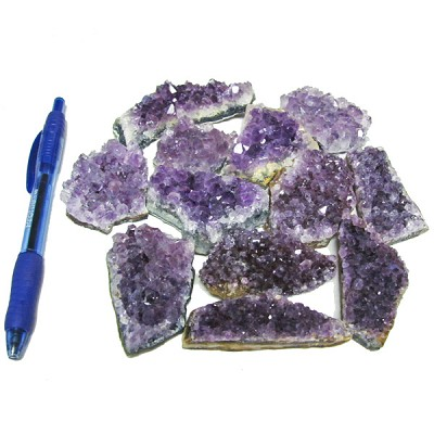 Mineral and Fossil Treasures - Amethyst Clusters (Size 2) (12 pcs)