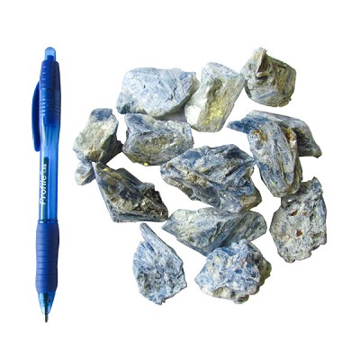 Mineral and Fossil Treasures - Blue Kyanite Clusters (Size 1) (24 pcs)