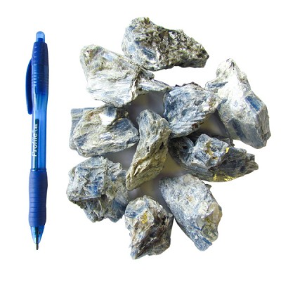 Mineral and Fossil Treasures - Blue Kyanite Clusters (Size 2) (20 pcs)