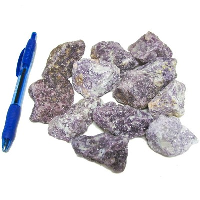 Bin Sized - Lepidolite Rough (Size 2) (12 pcs)
