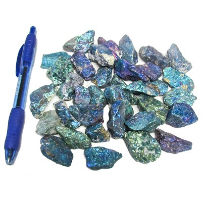 Mineral and Fossil Treasures - Peacock Ore (Size 0) (35 pcs)