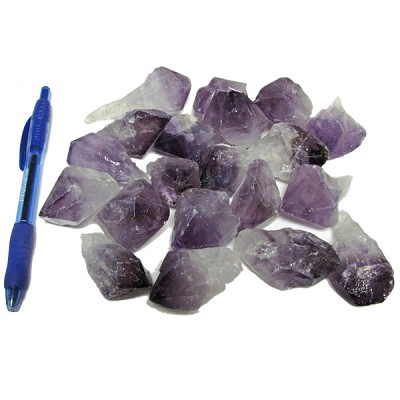 Mineral and Fossil Treasures - Amethyst Rough Points (Size 2) (20 pcs)