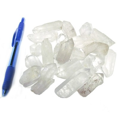 Mineral and Fossil Treasures - Quartz Points (Size 2) (20 pcs)
