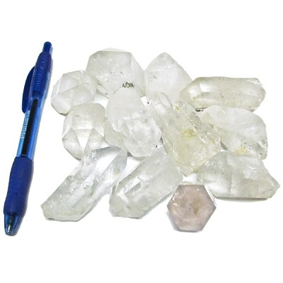 Mineral and Fossil Treasures - Quartz Points (Size 3) (12 pcs)