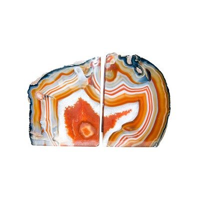 Agate Bookends - Red (Rust)