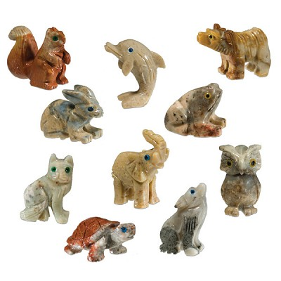 Mini Carved Stone Animal Refill - Assorted Onyx (50)