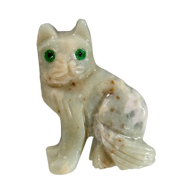 Mini Carved Stone Cat - Assorted Onyx (3)