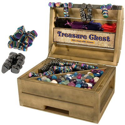 Treasure Chest Display - Rainbow and Regular Magnetic Hematite Combo (44 lbs)