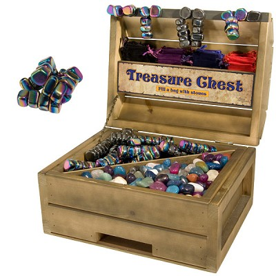 Treasure Chest Display - Rainbow Magnetic Hematite (44 lbs)