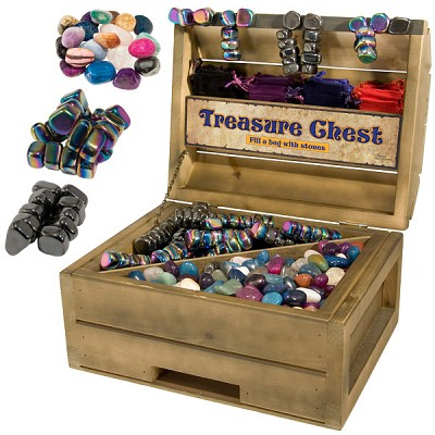 Treasure Chest Display - Rainbow and Regular Magnetic Hematite with Stone Combo (33 lbs)