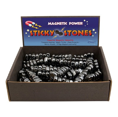 Magnetic Hematite Sticky Stones Display - Black (11 lb)