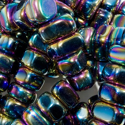 Rainbow Magnetic Hematite Tumbled Stones  (medium) (11 lb)