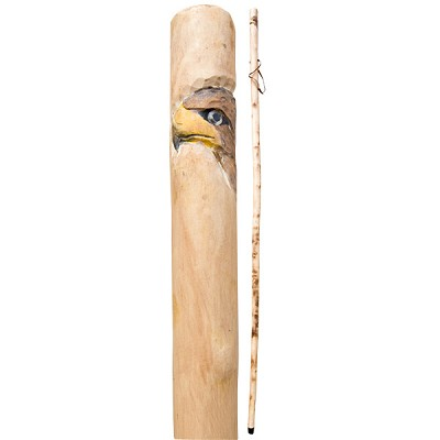 Hand Carved Wood Walking Stick - Eagle (1.3 m) (2)