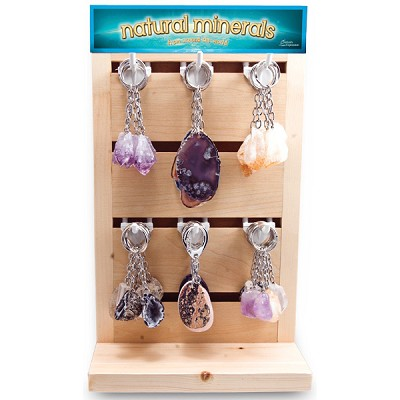 Mineral Keychain Counter Display - Assorted (48/display)