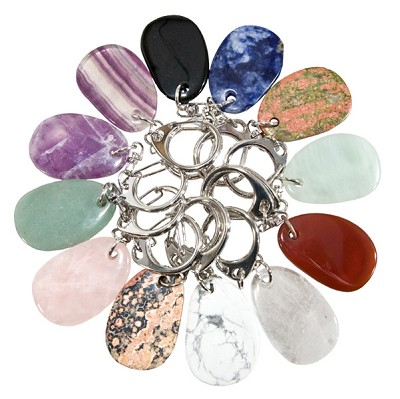 Earth Stone Keychains - Assorted (12)