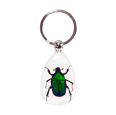 Insect Keychains - Green Beetle (3)