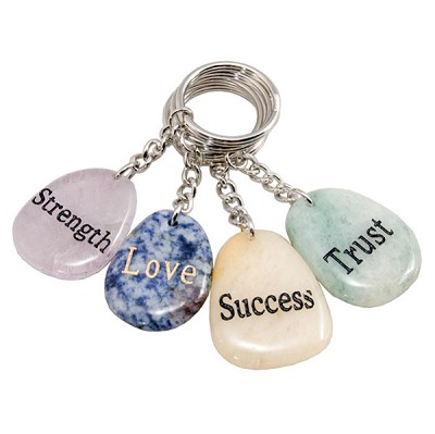 Wish Stone Keychains - Assorted (12)