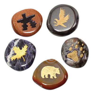 Totem Stone Magnets - Assorted (12)