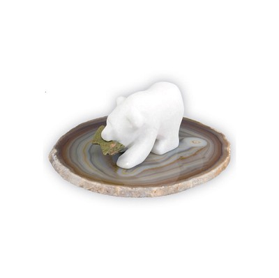 Spirit Bear On Agate - Single