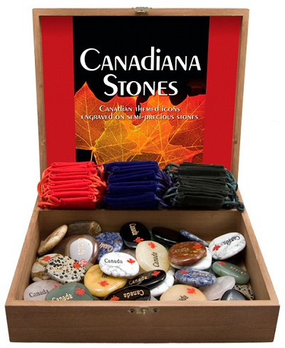 Canada Stones Display - Assorted w/ Gembag (50/display)