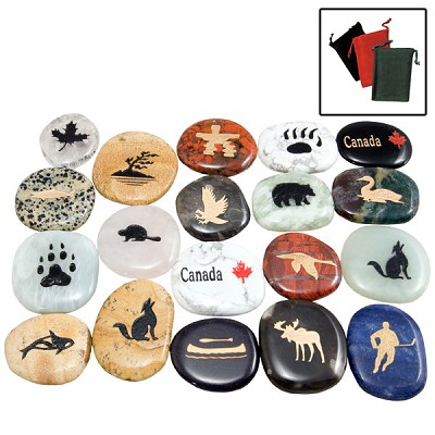 Canadiana Stones and Gembags - Assorted (72)