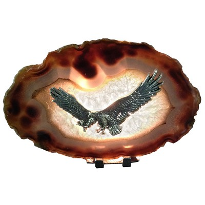 Pewter on Agate - Eagle
