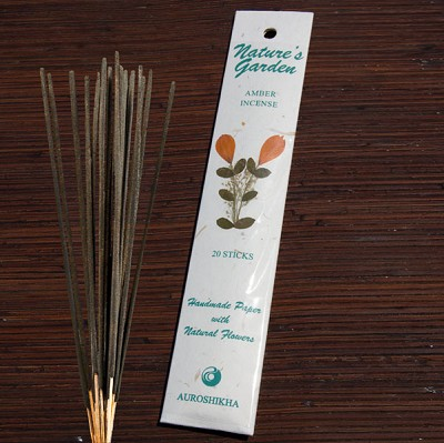 Natures Garden Incense Sticks - Amber  (5)