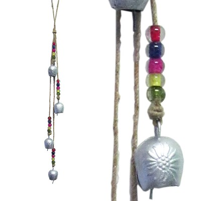 Rustic Bell - Flower Gola Chimes (Silver)
