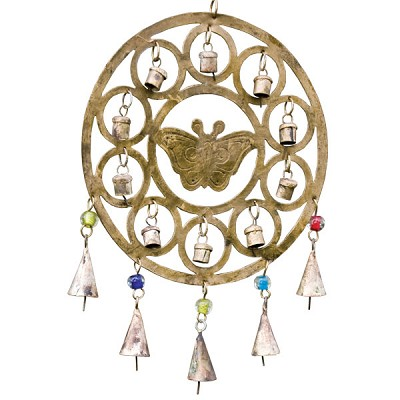 Rustic Bell Chime - Butterfly with Circles