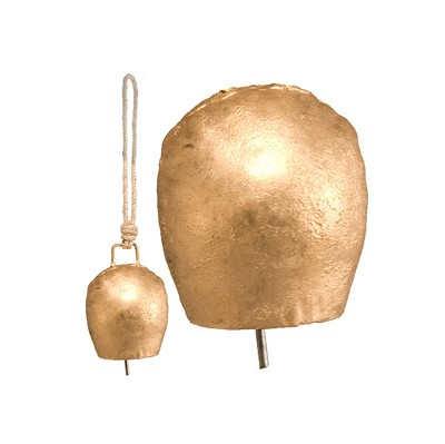 Rustic Gola Hand Bell - (4 inch) On Rope